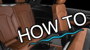 audi q7 tutorial how to access rear seat u0026 3rd row youtube