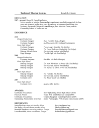 theatrical resume template my technical theatre resume reade levinson flickr