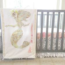 download mermaid crib bedding baby bedding purple mint teal