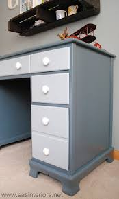 Contact Paper Desk Makeover Painted Two Toned Desk Tips On Painting Furniture Jenna Burger