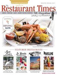 grille d a ation cuisine the restaurant times st augustine 2017 by publishing