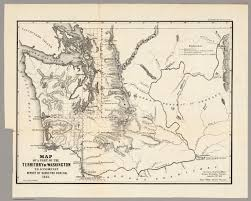 Washington State Printable Map by Map Of A Part Of The Territory Of Washington 1855 David Rumsey