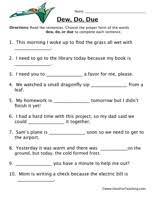 homophone worksheet dew do due worksheets have fun and form of