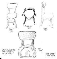 tisha barnes u0027 designs chair view sketch