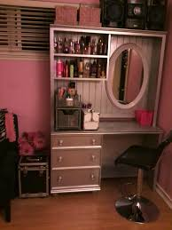 Turn Desk Into Standing Desk turn a second hand desk and hutch into a salon station for your