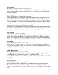 Production Operator Resume Sample by Field Operator Resume