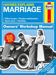 haynes explains marriage book humorous novelty parody gift manual
