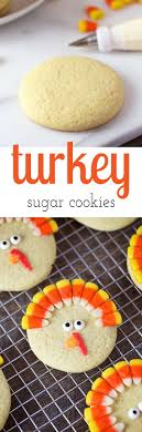 turkey sugar cookies recipe lunch box sugar cookies and