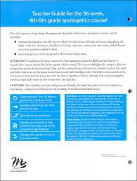 elementary apologetics teacher guide 038632 details rainbow