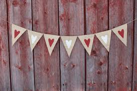 Rustic Valentines Day Decor by Heart Banner Valentines Day Decor Valentines Banner Heart