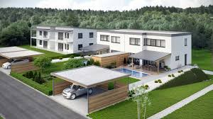 Duplex Building Viscato Project Modern Duplex House In Austria