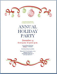 christmas party invitation template party invitation template formal word templates