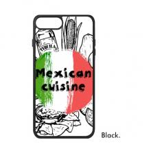 mexico culture sketch mexican cuisine national flag round shape