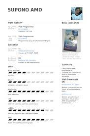Java Programmer Resume Sample by Web Programmer Resume Samples Visualcv Resume Samples Database