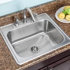 Single Bowl Kitchen Sink Top Mount Houzer Glowtone 25 X 22 Topmount Single Bowl 18 Kitchen