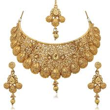 gold jewellery necklace sets images Buy reeva gold plated zinc traditional necklace sets for women jpg