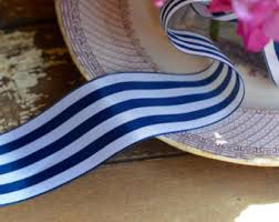navy blue and white striped ribbon nautical ribbon navy blue and white striped ribbon 7 8