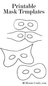printable mask templates perfect halloween
