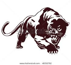 grey ink angry panther tattoos design