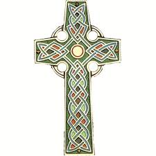 celtic cross with colorful inlay the catholic company