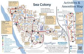 Real Estate Map Sea Colony Activities Map Resortquest Real Estate