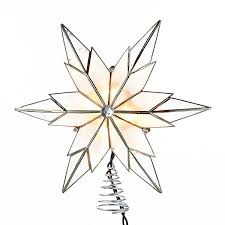 Star Christmas Tree Toppers Lighted - novelty lights capiz clear star tree topper ul3123