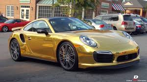 porsche chrome chrome gold porsche 911 turbo s acceleration walkaround youtube
