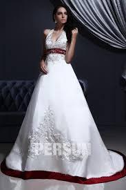 robe de mari e bicolore palais colorié robe de mariée col américain broderie petits perles