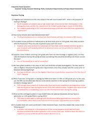 frequently asked questions keystone testing keystone retesting