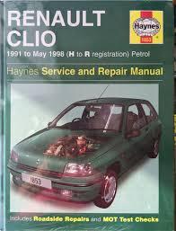 renault clio 1991 05 1998 h r reg petrol haynes service and