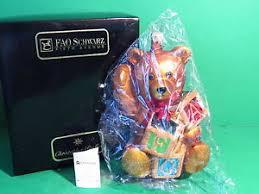 christopher radko fao schwarz teddy with blocks ornament