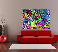 buy home decor items online amazon com psychedelic trippy art snail giant art print home