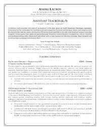 examples of teacher resume teacher resumes templates effective