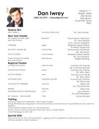 acting resume template browse acting resume template 2018 actor resume template