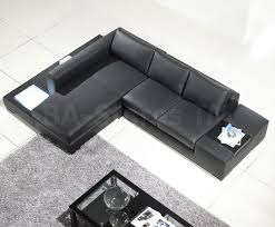 furniture black leather sectional couches with glass coffee table
