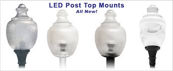 post top light fixtures all new led post top fixtures