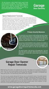 Overhead Door Transmitter by Garage Door Repair Temecula Our Infographic 951 789 3024