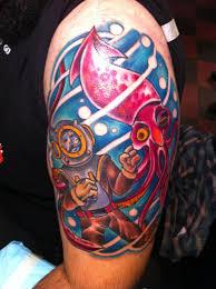 diver v squid by keet d u0027arms at southern star tattoo atlanta ga