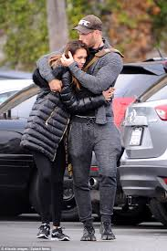 kellan lutz plants a kiss on girlfriend brittany gonzales during