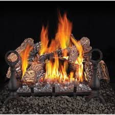 napoleon 18 inch fiberglow natural gas vent free gas log set with
