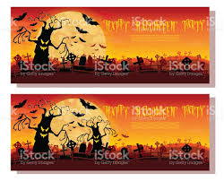 halloween background scary monsters trees on old cemetery stock