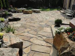 Flagstone Ideas For A Backyard 25 Great Stone Patio Ideas For Your Home Flag Stone Stone