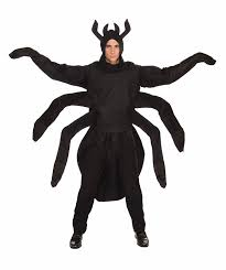 amazon com forum creepy spider costume black one size clothing