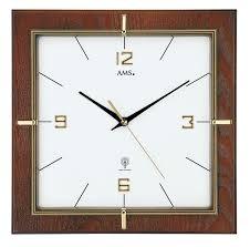 Grande Horloge Murale Carrée En Bois Vintage Achat Horloge Murale Radio Pilotée Carrée En Noyer Horloge Murale 1001