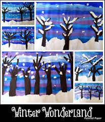ideas art best winter landscape paintings for kids christmas arts