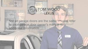 alderson lexus pre owned tom wood lexus how to pair your garage door to your homelink