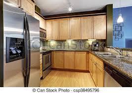 cuisine brun brun plancher bois dur lumière granite cuisine brun