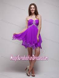 graduation dresses middle school sweetheart purple middle school graduation dress with beading