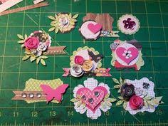 Handmade Scrapbook Albums My Handmade Embellishments 4 Embellishment Pinterest