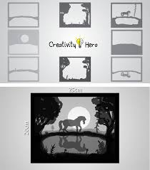 how to create a 3d paper cut light box diy project creativity hero